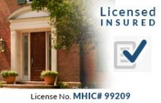 Seneca Creek MD Licensed and Insured